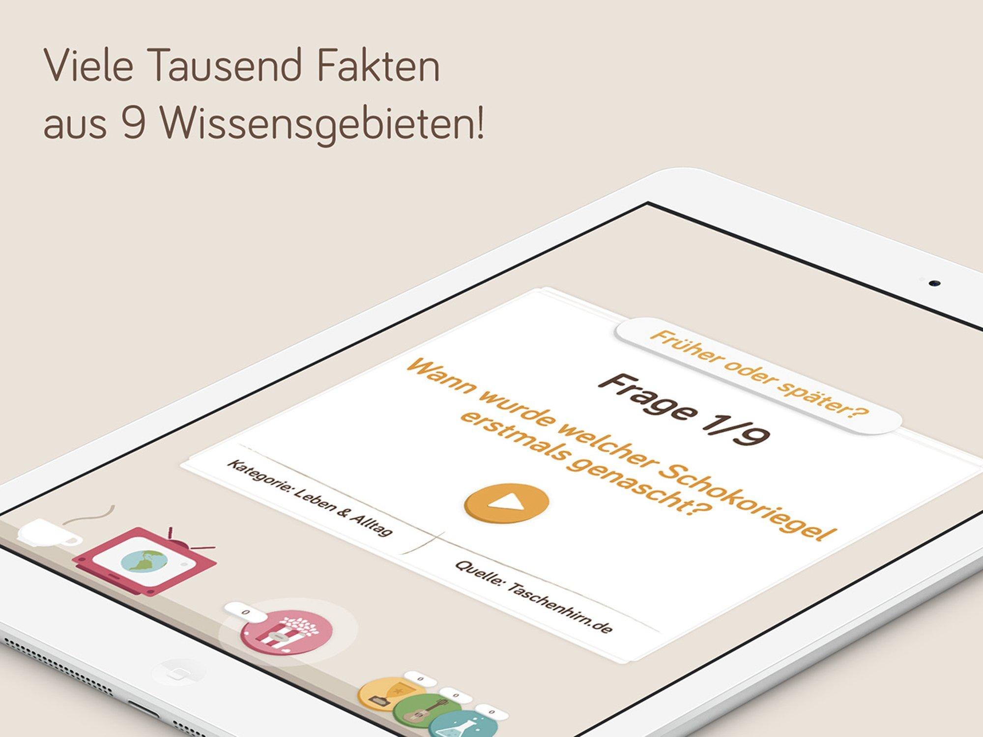 Quiz App für iPhone und ipad